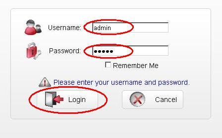 Далее нажмите кнопку «Login»