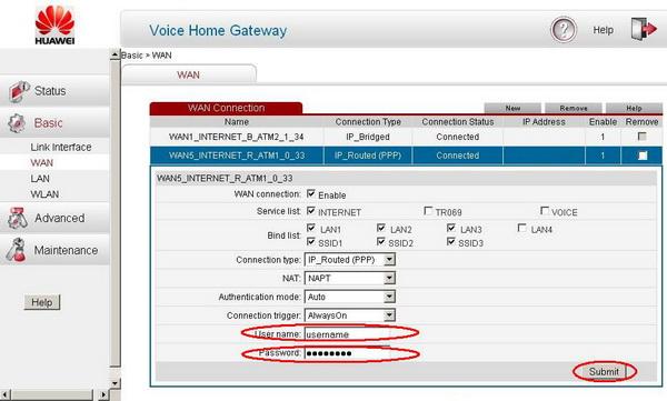 Введите в строках Username и Password соответственно логин
